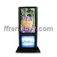 Dual Panel LCD Ad Player for Standing