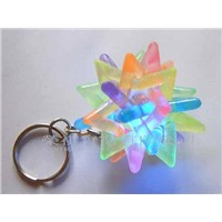 Flashing Knitted Ball Keychain
