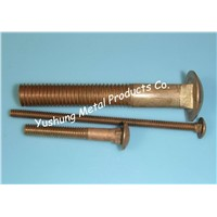 "Silicon Bronze Carriage Bolt of Shank #10 to 3/4"",Length 1"" to 20"""