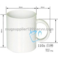 Sublimation White Mugs, Ceramic Cup, Coating Mugs