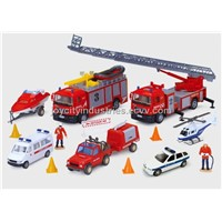die cast fire engine play set