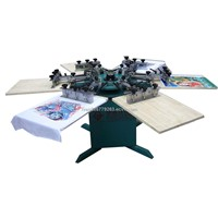 6/8 Colors T-Shirt Manual Printing Machine