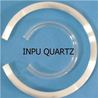 C shape inpuquartz glass tube