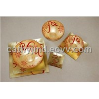 Christmas Series Gold Foil Glassware