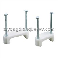 Double Nail Flat Cable Clip