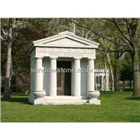 Granite and Marble Mausoleum Tombstone