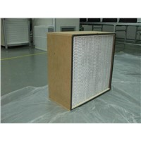 Hepa Filter with Wood Frame