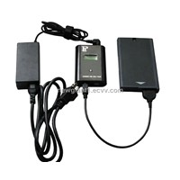 Outboard laptop battery charger
