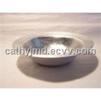 Silver Foil Glass Bowl