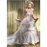 Sweetheart Satin A-Line Inspired Floor Length Elegant Bridal Gown (Dewd0013)