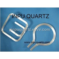 inpuquartz glass tube with C ,U shape