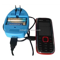 Mobile Phone Two AA Battery Emergency Charger