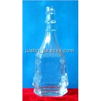 White Glass Bottle