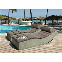 Outdoor Rattan Lounger