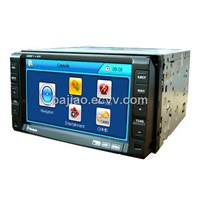 "2 Din 6.2"" TFT Touch Screen Car DVD Player With Bluetooth & GPS & TV"