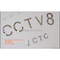 2mm Thickness Stainless Steel Letters (S2)