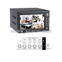 4 CH ATM Stand Alone DVR Built in 7 Inch LCD Monitor Supplying Remote Power for 4 Cameras