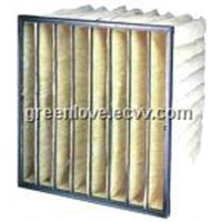 Bag Filter with Galvanized Steel Frame F5