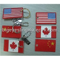Embroidery Flag Keychain
