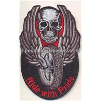 Embroidery Iron on Skull Patch