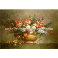 Flower Oil Painting on Canvas (JW30016)