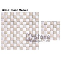 cast stone + glass mosaic