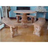 Marble Table & Bench