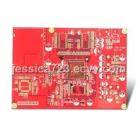 6-Layer PCB with Red Solder Mask