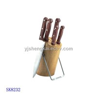 6pcs Knife Set in Wooden Handle