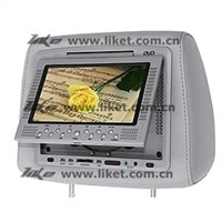 7-inch Car Headrest LCD Monitor with DVD Player (T-700HD)