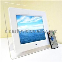 8 inch digital photo frame with MP3 and MP4+2GB memory card