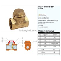 Brass swing check valve 14001