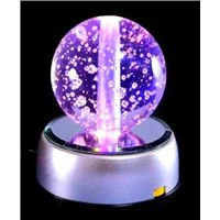 Crystal Color Ball with LED Light Base