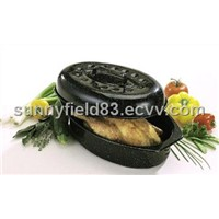 Enameled Oval Chicken Roaster (FC310)