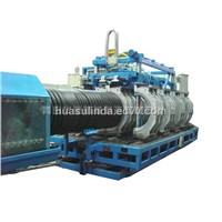 Plastic Pipe Machine HDPE Double Wall Corrugated Pipe Extrusion Line