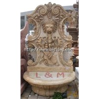 Hand Carved Marble Wall Fountain