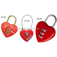 Heart Shape Combination Lock (CR-28A/CR-28B)