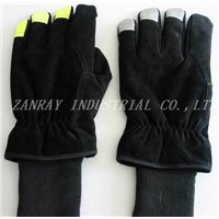 Leather Fire Fighting Gloves (ZR-D002-GL04)