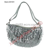 Metal Mesh Ruffle Bag