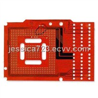 PCB with Red Soldermask