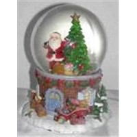 Santa Figure with Water Globe