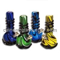 Mixed Colors Silk Soft Glass Water Bongs/Pipes