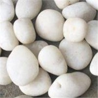 White Polished Pebble,