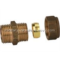 Brass Compression Fittings f04-101)