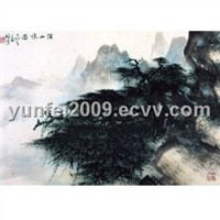 Pine on the Mountain - Chinese Painting - Li Xiong-Cai (cp034)