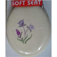 embroidery soft toilet seat -hys01