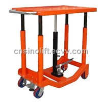 hand-hydraulic post lift table