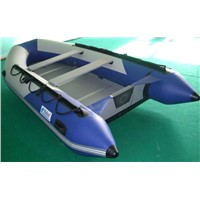 inflatable plywood boatHLM380PVC/HYPALON