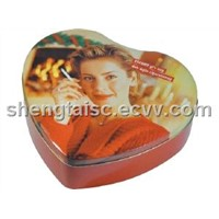 Heart shaped tin Cans for gift