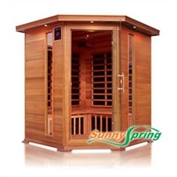 far infrared sauna room made with red cedar